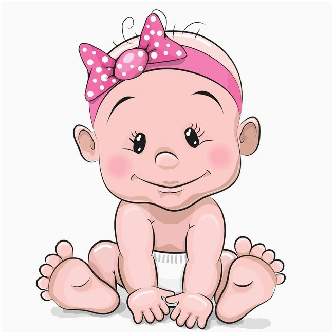 Clipart For Baby Girl Fresh Cute Baby Girl Hand Painted Cartoon Lovely PNG Image